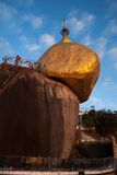 myanmar złota skała Zdjęcia Royalty Free