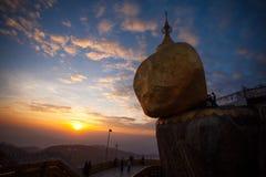 myanmar złota skała Obrazy Stock