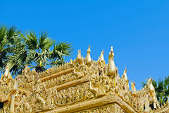 Myazedi pagoda golden ornament Stock Photography