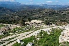 Mycenae, археологическое место в Греции стоковое изображение rf