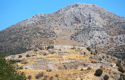 Mycenae, археологическое место Стоковое Фото