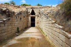 mycenae Греции Усыпальница бронзового века стоковые фото