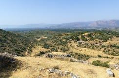 Mycenae, Греция стоковое изображение rf
