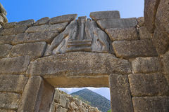 mycenae льва Греции строба стоковое фото rf