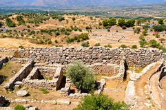 Mycenae. The Mycenae - ancient town, Greece Royalty Free Stock Images