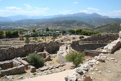Mycenae. Beautiful historic mycenae - peloponnese - greece Royalty Free Stock Images