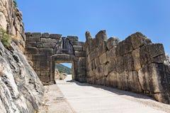 mycenae royaltyfri bild