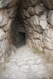 Mycenae ancient city. Ancient ruined tunnel, Mycenae city, Peloponnese, Greece Stock Photos