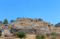 Mycenae, archaeological site, Greece Royalty Free Stock Photography