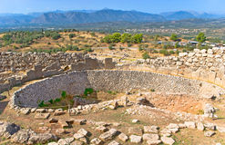 Mycenae. The archaeological site of Mycenae is the popular landmark of Greece Stock Photo