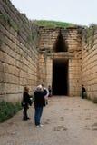 Mycenae archeologische plaats in Griekenland royalty-vrije stock afbeeldingen