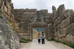 Mycenae arkeologisk plats i Grekland royaltyfri foto