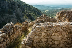 Mycenae arkeologiskt ställe i Grekland Royaltyfria Bilder