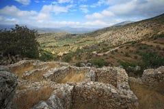 Mycenae e ruínas da cidade antiga Fotos de Stock