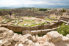 Mycenae. Grave Circle A. The archaeological sites of Mycenae and Tiryns have been inscribed upon the World Heritage List of UNESCO Royalty Free Stock Photography