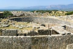 Mycenae, Griekenland royalty-vrije stock afbeelding