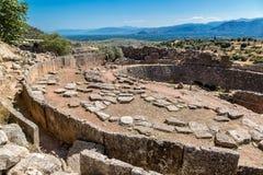 Mycenae, Griekenland royalty-vrije stock foto