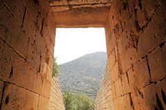 Mycenae, Griekenland Royalty-vrije Stock Fotografie