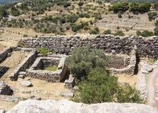 Mycenae in Griekenland royalty-vrije stock afbeeldingen