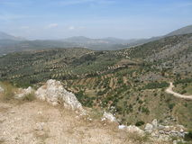 Mycenae Landscape, Greece Stock Photography