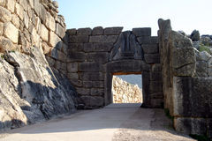 Mycenae Lion's Gate Royalty Free Stock Photos