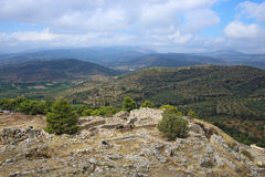 Mycenae and ruins of the ancient city Royalty Free Stock Images