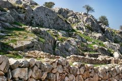 Mycenae. The view from the acropolis, Greece Stock Images