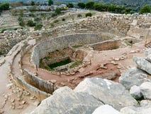 mycenaean καταστροφές παλατιών Στοκ Εικόνες