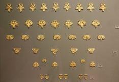 Mycenaean золото в музее археологии, Афинах, Греции Стоковое Изображение RF