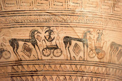 Mycenaean art pottery animal figure decoration Royalty Free Stock Photography