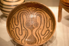 Mycenaean art pottery octopus figure decoration Royalty Free Stock Photos