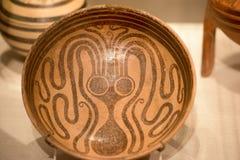 Mycenaean art pottery octopus figure decoration Royalty Free Stock Photos
