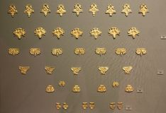 Mycenaean gold in museum of archaeology, Athens, Greece Royalty Free Stock Image