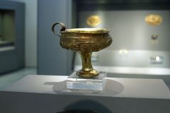 Mycenaean gold in museum of archaeology, Athens, Greece Stock Photography