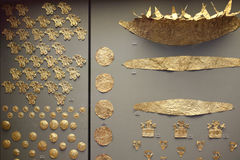 Mycenaean gold in museum of archaeology, Athens, Greece Royalty Free Stock Photography