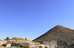 Mycenaean Grekland upptagen under den sista fasen av bronsåldern i forntida Grekland och tanke som ska beskrivas i iliaden av Hom arkivfoton