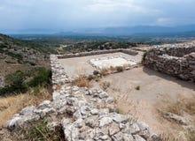 Mycenaeruïnes Griekenland Stock Afbeelding