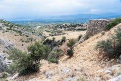 Mycenaeruïnes Griekenland Royalty-vrije Stock Afbeeldingen