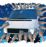 mycie samochodów Zdjęcie Stock