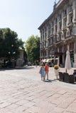 Mycket antika lägenheter med stort parkerar #2 Royaltyfri Fotografi