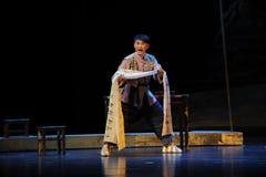 Mycket av den sorg- och harmJiangxi operan en besman Arkivfoto