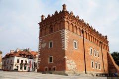 Mycket av reliker av en renässansstad Sandomierz poland Arkivbild