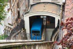 Funicular i Zagreb, Kroatien Arkivbilder
