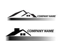 Mycket detaljerade och uttrycksfulla huslogo Real Estate Arkivfoton