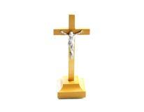 Mycket enkelt träheligt kors jesus christ Fotografering för Bildbyråer