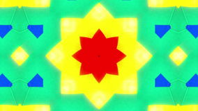 Mycket färgrik kalejdoskop stock video
