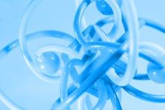Mycket färgrik molekylstruktur på vit bakgrund Royaltyfria Foton