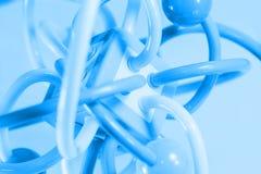 Mycket färgrik molekylstruktur på vit bakgrund Arkivfoto