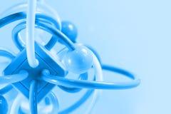Mycket färgrik molekylstruktur på vit bakgrund Royaltyfri Foto