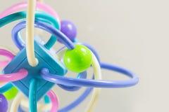 Mycket färgrik molekylstruktur på vit bakgrund Royaltyfria Bilder